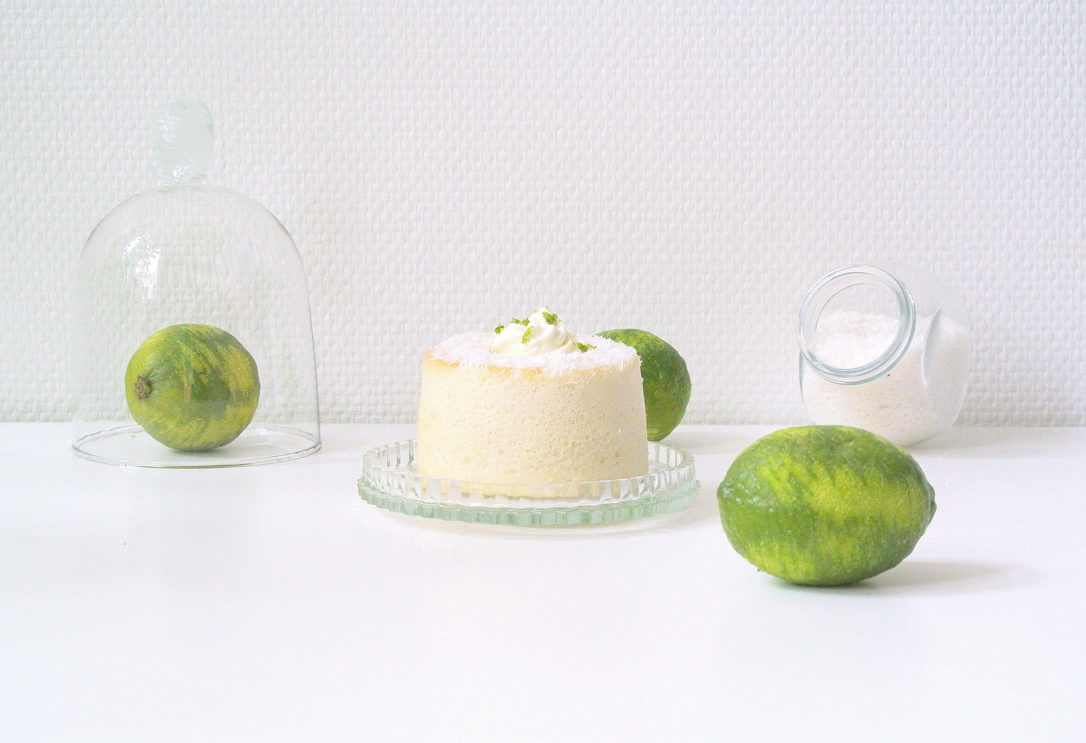 Mini Angel cake coco-citron vert