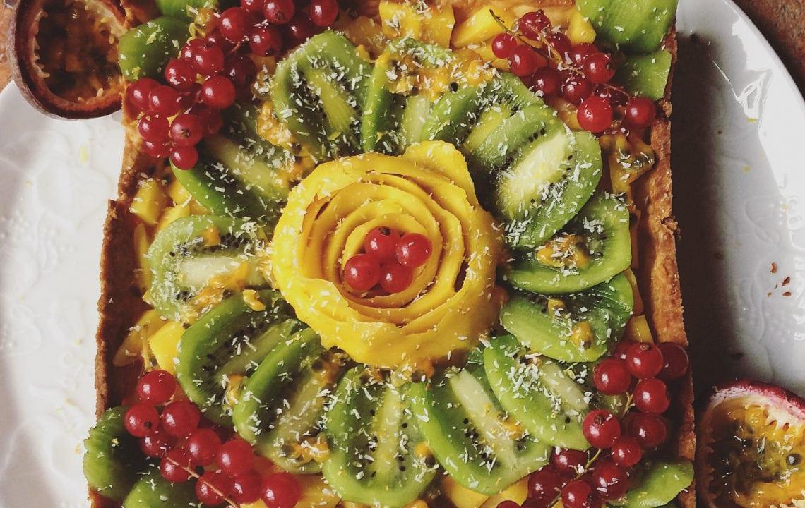 La tarte aux fruits exotiques