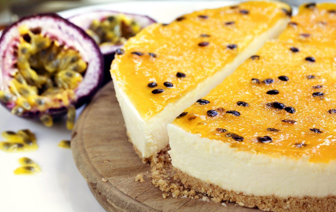 Cheesecake fruits de la passion