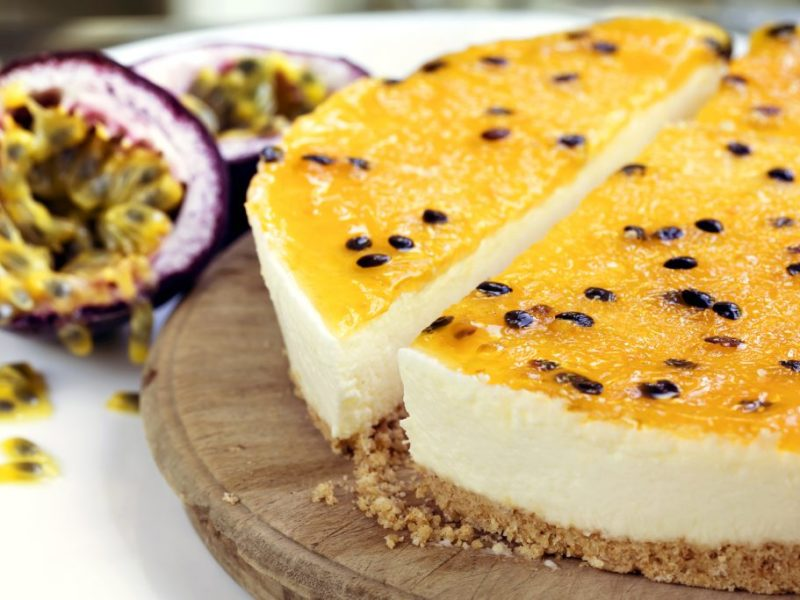 Cheesecake fruits de la passion