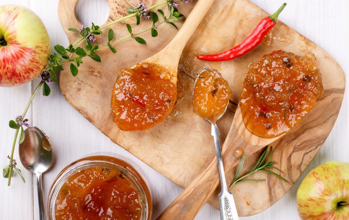 Gelée de pomme au Monbazillac et piment d'Espelette