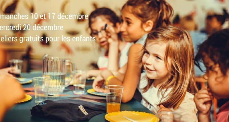 Ateliers culinaires gratuits pour les enfants avant Noël